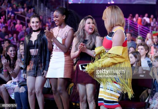 Singers Ally Brooke Normani Kordei Lauren Jauregui and Dinah Jane of Fifth Harmony at Nickelodeon's 2017 Kids' Choice Awards at USC Galen Center on...