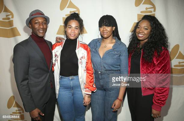 Singers Aloe Blacc Amber Strother Anita Bias and Paris Strother attend the annual GRAMMY In The Schools Live – A Celebration of Music Education...