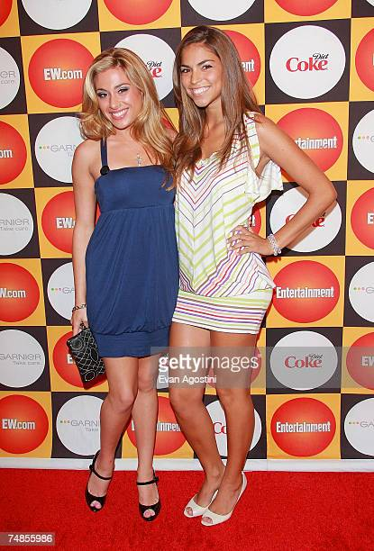 Singers Amanda Coluccio Antonella Barba attend Entertainment Weekly's Annual Must List Party at Gotham Hall June 21 2007 in New York City