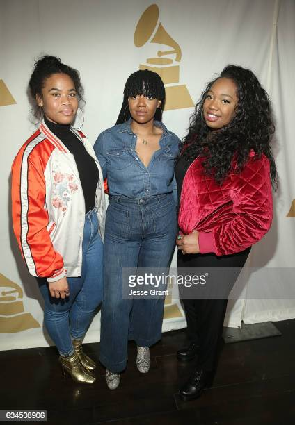 Singers Amber Strother Anita Bias and Paris Strother attend the annual GRAMMY In The Schools Live – A Celebration of Music Education presented by...