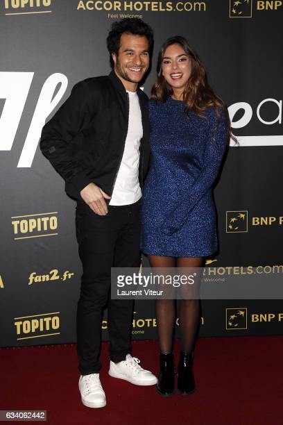 Singers Amir and Alma attends the '4th Melty Future Awards' at Le Grand Rex on February 6 2017 in Paris France