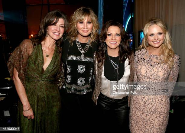 Singers Amy Grant Jennifer Nettles Martina McBride and Miranda Lambert attend 2014 MusiCares Person Of The Year Honoring Carole King at Los Angeles...