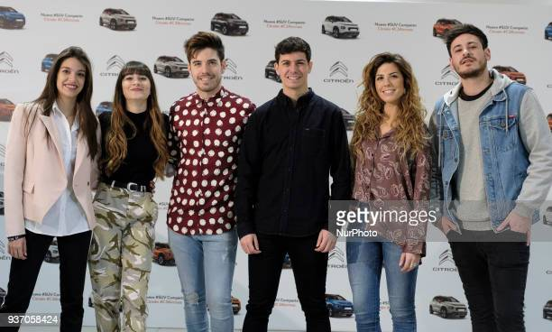 OT Singers Ana Aitana Ocana Roi Alfred Garcia Miriam and Luis Cepeda present the new SUV Compacto Citroen C3 Aircross on March 23 2018 in Madrid Spain