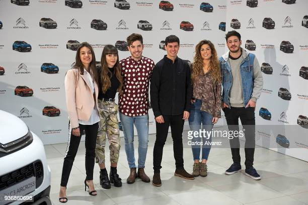 OT Singers Ana Aitana Roi Alfred Miriam and Cepeda present the new SUV Compacto Citroen C3 Aircross on March 23 2018 in Madrid Spain