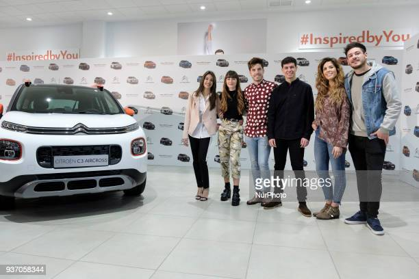 OT Singers Ana Guerra Aitana Ocana Roi Alfred Garcia Miriam and Luis Cepeda present the new SUV Compacto Citroen C3 Aircross on March 23 2018 in...