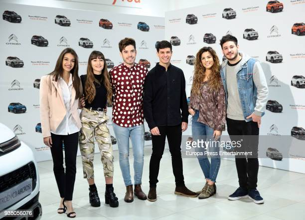 OT Singers Ana Guerra Aitana Ocana Roi Alfred Miriam and Luis Cepeda present the new SUV Compacto Citroen C3 Aircross on March 23 2018 in Madrid Spain