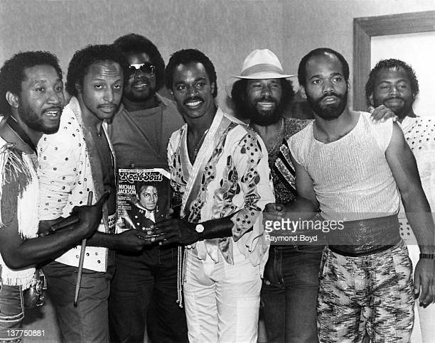 Funk group ConFunkShun poses for a photo after their performance at the Holiday Star Theater in Merrillville Indiana in 1984