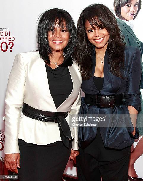 """Singers and sisters Rebbie Jackson and Janet Jackson attend the special screening of """"Why Did I Get Married Too?"""" at the School of Visual Arts..."""