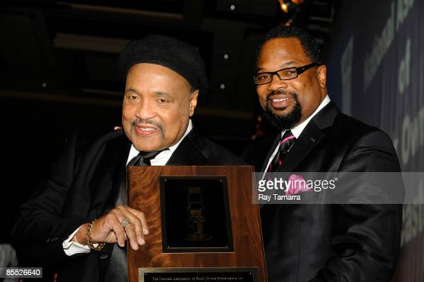 Singers Andrae Crouch and Hezekiah Walker attend the 25th annual Communication Awards dinner at the Marriott Wardman Park Hotel on March 19 2009 in...