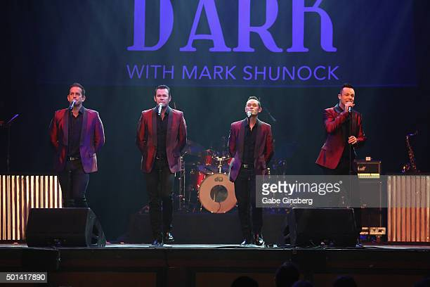 Singers Andrew Tierney Phil Burton Michael Tierney and Toby Allen of the Australian vocal group Human Nature perform during the Mondays Dark 2nd...