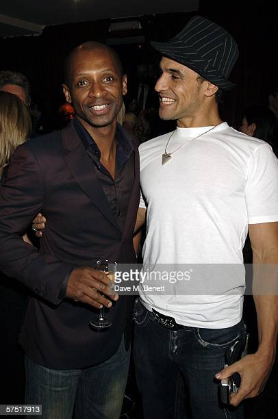 "Singers Andy Abrahams and Chico Slimani attend the ""Chicago: The Musical"" celebrity party to celebrate the West End transfer of the popular musical..."