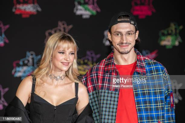 Singers Angele Van Laeken and her brother Romeo Elvis Van Laeken attend the 21st NRJ Music Awards At Palais des Festivals on November 09 2019 in...