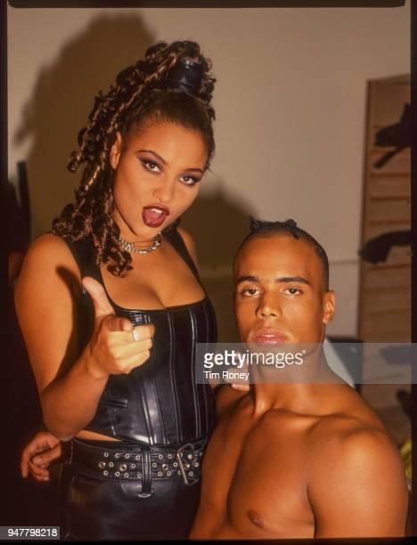 Singers Anita Doth and Ray Slijngaard of Dutch eurodance group '2 Unlimited' circa 1995