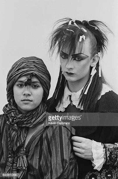 Singers Annabella Lwin and Boy George of English new wave group Bow Wow Wow Manchester University 14th March 1981 George performed two concerts with...