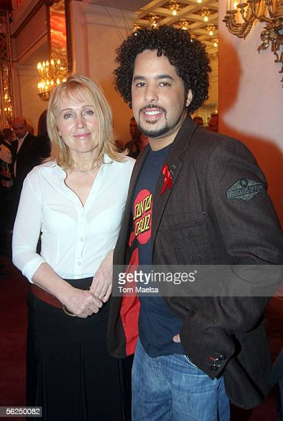 Singers Annette Humpe and Adel Tawil attend the Artists Against AIDS Charity Gala on November 21 2005 in Berlin Germany