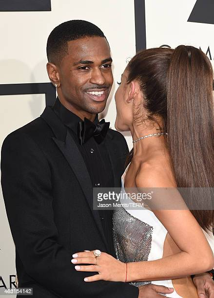 Singers Ariana Grande and Big Sean attend The 57th Annual GRAMMY Awards at the STAPLES Center on February 8 2015 in Los Angeles California