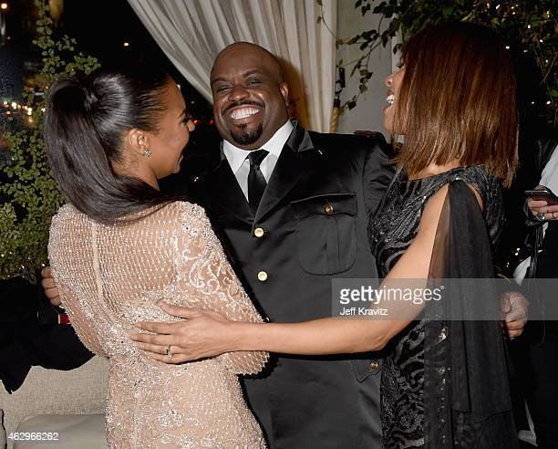 Singers Ashanti Cee Lo Green and Deborah Cox attend the Primary Wave 9th Annual PreGrammy Party at RivaBella on February 7 2015 in West Hollywood...