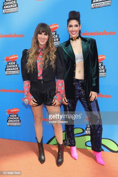 Singers Ashley Grace Perez and Hanna Nicole of HaAsh attend the Nickelodeon Kids' Choice Awards Mexico 2018 at Auditorio Nacional on August 19 2018...