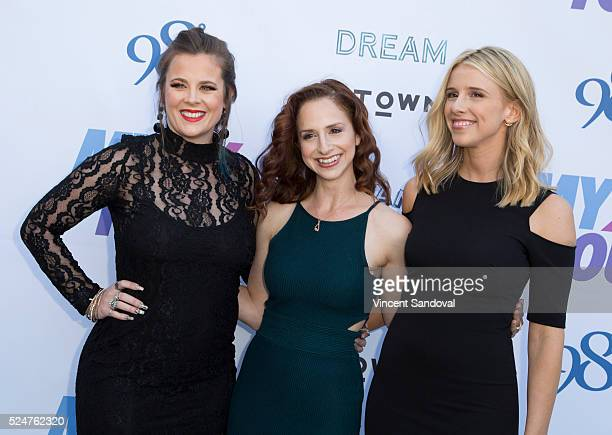 Singers Ashley Poole Holly BlakeArnstein and Melissa Schuman of DREAM attend the My2k tour launch with 98 Degrees OTown Dream and Ryan Cabrera at...