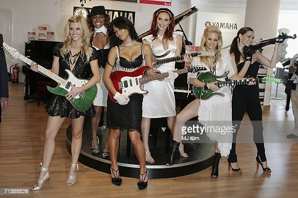 Singers Ashley Roberts Nicole Scherzinger Melody Thorton Carmit Bachar Kimberly Wyatt and Jessica Sutta from The Pussycat Dolls pose for...