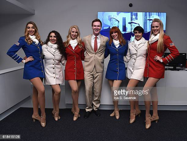 Singers attend the USO For the Troops Screening on The Intrepid Museum October 26 2016 in New York City