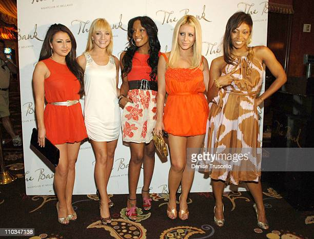 Singers Aundrea Fimbres Shannon Bex Dawn Richard Aubrey O'Day and D Woods of Danity Kane arrive at their official album release party at The Bank...