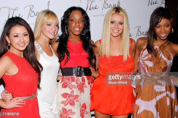 Singers Aundrea Fimbres Shannon Bex Dawn Richard Aubrey O'Day and Wanita 'D Woods' Woodgette of Danity Kane pose for pictures to celebrate their...