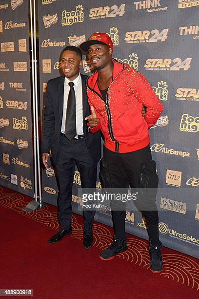 Singers Axel Tony and Jessy Matador attend the '35th Nuit des Publivores' at Grand Rex September 17 2015 in Paris France