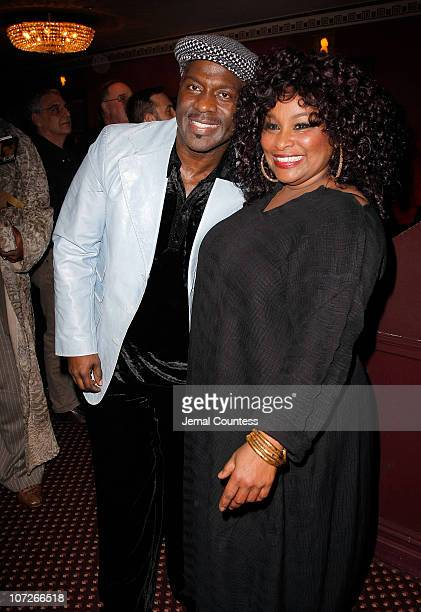 Singers BeBe Winans and Chaka Khan at the Cast Change Celebration for new cast members joining the Broadway Production of The Color Purple which...