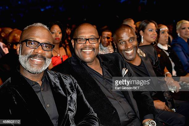 Singers BeBe Winans Marvin Winans and Carvin Winans of 3 Winans Brothers attend the 2014 Soul Train Music Awards at the Orleans Arena on November 7...