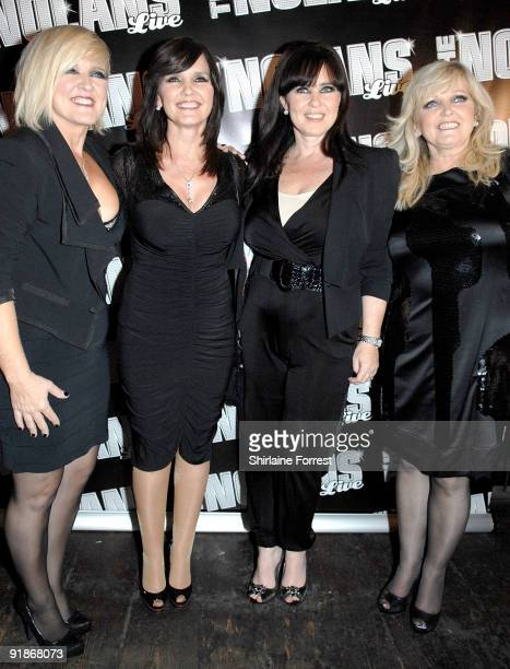 Singers Bernie Nolan Maureen Nolan Coleen Nolan and Linda Nolan of The Nolans attend The Nolans Aftershow party at Via on October 13 2009 in...