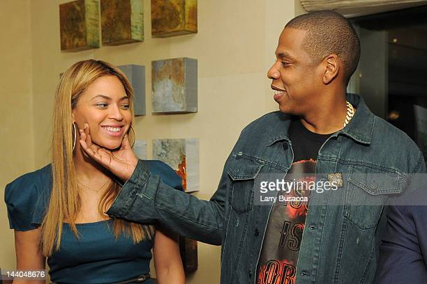Singers Beyonce and JayZ attend Antonio 'LA' Reid's book launch event for his wife Erica Reid's book 'The Thriving Child' at private residence on May...