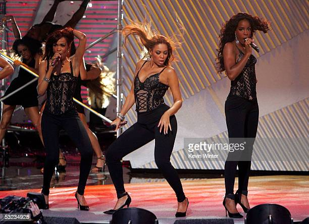 Singers Beyonce Knowles Michelle Williams and Kelly Rowland of Destiny's Child performs onstage at the 13th Annual ESPY Awards at the Kodak Theatre...