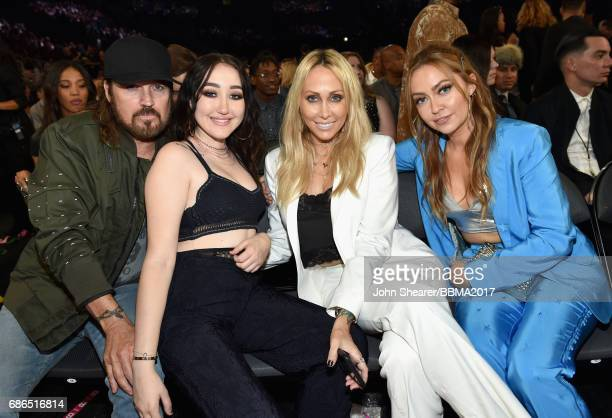 Singers Billy Ray Cyrus and Noah Cyrus Tish Cyrus and Brandi Cyrus attend the 2017 Billboard Music Awards at TMobile Arena on May 21 2017 in Las...