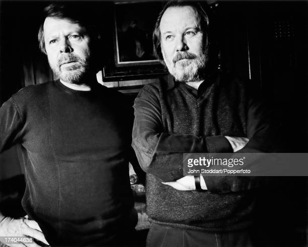 Singers Björn Ulvaeus and Benny Andersson from Swedish pop group ABBA circa 1995