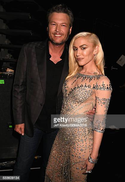Singers Blake Shelton and Gwen Stefani attend the 2016 Billboard Music Awards at TMobile Arena on May 22 2016 in Las Vegas Nevada