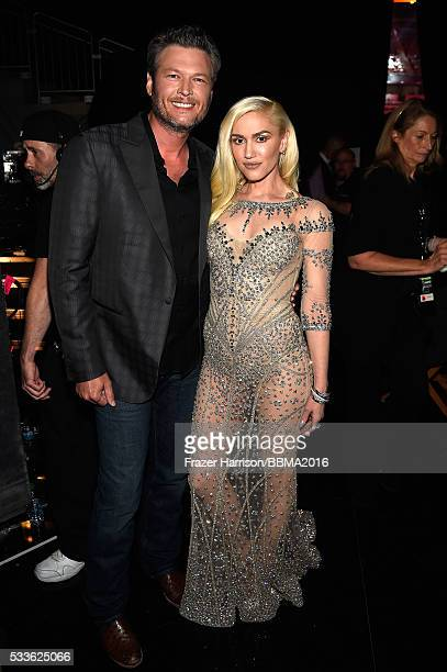 Singers Blake Shelton and Gwen Stefani attend the 2016 Billboard Music Awards at TMobile Arena on May 22 2016 in Las Vegas Nevada
