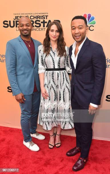 Singers Brandon Victor Dixon Sara Bareilles and John Legend attend an FYC Event for NBC's Jesus Christ Superstar Live in Concert at the Egyptian...