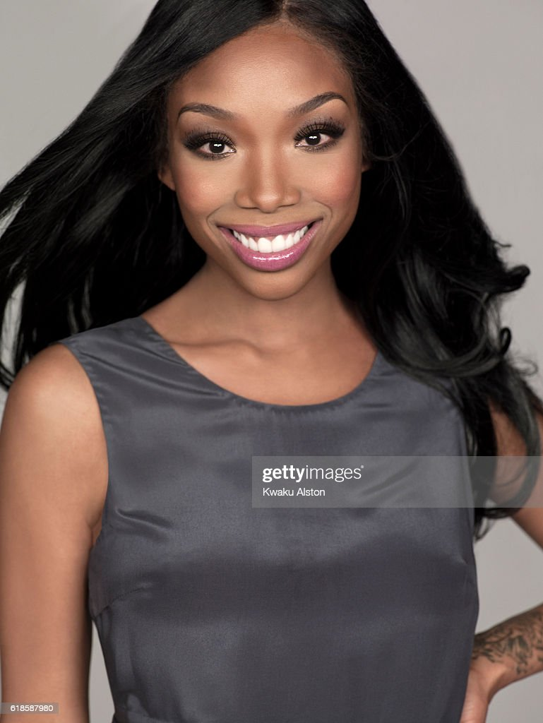 Singers Brandy and Monica is photographed for People Magazine on February 8, 2012 in Santa Monica, California.
