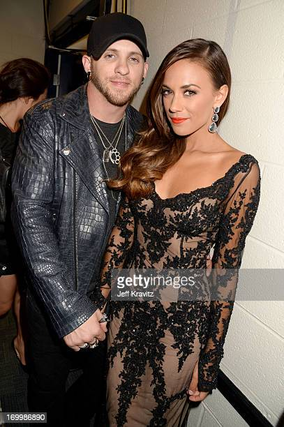 Singers Brantley Gilbert and Jana Kramer attend the 2013 CMT Music Awards at the Bridgestone Arena on June 5 2013 in Nashville Tennessee