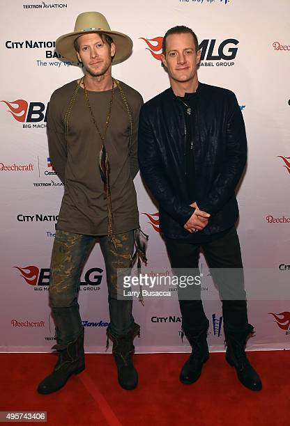 Singers Brian Kelley and Tyler Hubbard of Florida Georgia Line attend as Big Machine Label Group celebrates The 49th Annual CMA Awards at Rosewall on...