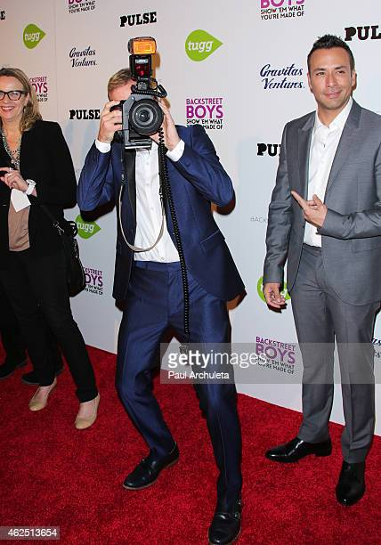 Singers Brian Littrell and Howie Dorough attend the premiere of the 'Backstreet Boys Show 'Em What You're Made Of' at the ArcLight Cinemas Cinerama...