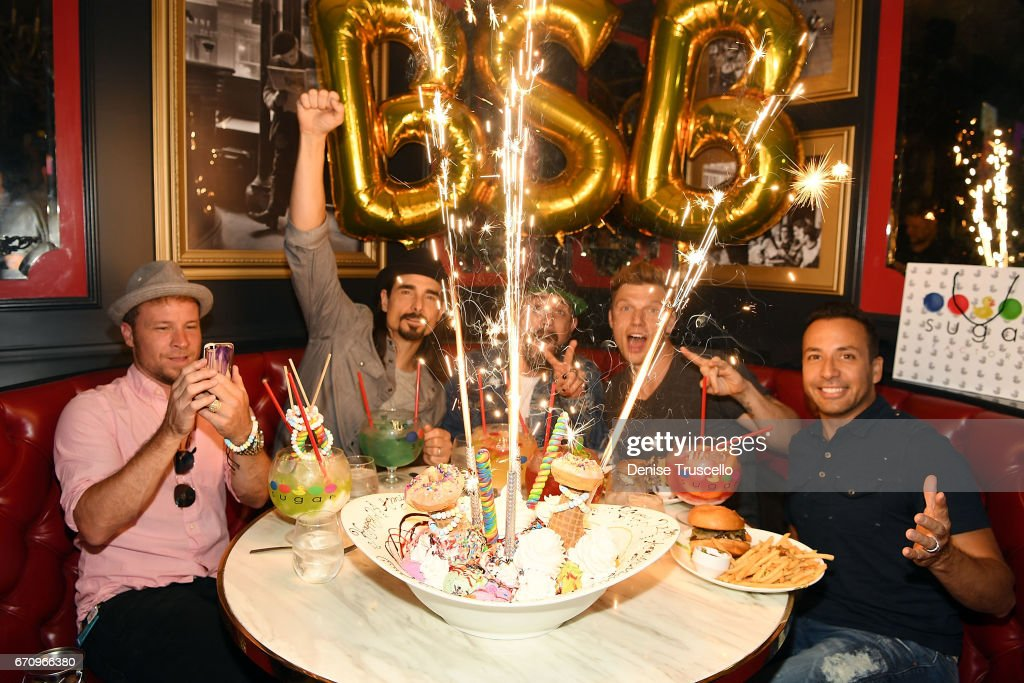 Backstreet Boys Celebrate The Grand Opening Of Sugar Factory American Brasserie In Las Vegas