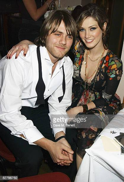 Singers Brian McFadden and girlfriend Delta Goodrem attend the Capital FM Help A London Child Charity Dinner at the Dover Street Restaurant Bar on...