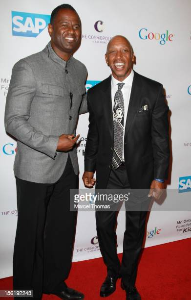 Singers Brian McKnight and Jeffrey Osborne attend the 8th All Star Celebrity Classic benefiting the Mr October Foundation for Kids at Cosmopolitan...