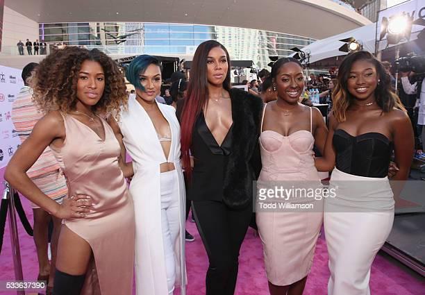 Singers Brienna DeVlugt, Gabrielle Carreiro, Kristal Lyndriette, Ashly Williams, and Shyann Roberts attend the 2016 Billboard Music Awards at...