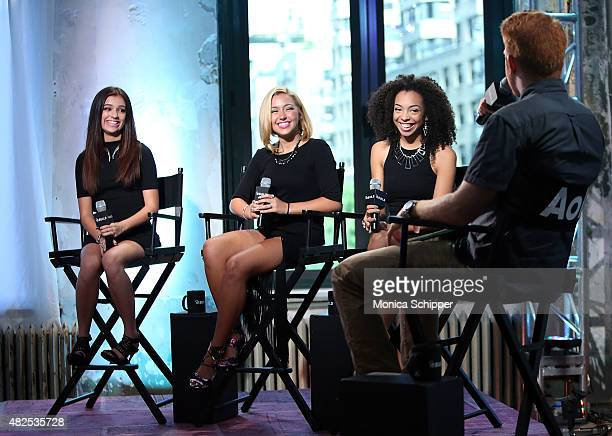 Singers Bryana Salaz Millie Thrasher and Summer Reign of musical group Sweet Suspense speak with Billboard Senior Editor Alex Gale at AOL Build...