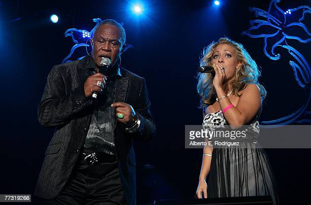 Singers Callaway and Sam Moore perform onstage during the Lili Claire Foundation 10th annual benefit dinner and auction held at the Hyatt Regency...