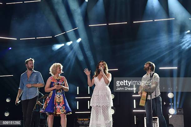 Singers Cam and Charles Kelley, Hillary Scott, and Dave Haywood of Lady Antebellum perform onstage during 2016 CMA Festival - Day 1 at Nissan Stadium...