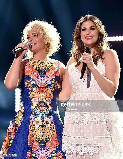 Singers Cam and Hillary Scott of Lady Antebellum perform onstage during 2016 CMA Festival - Day 1 at Nissan Stadium on June 9, 2016 in Nashville,...